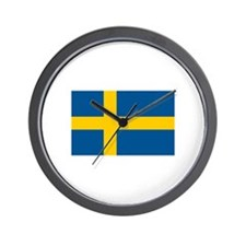 Swedish Pride Wall Clock