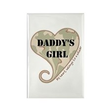 Daddy's girl camo soldier heart Rectangle Magnet