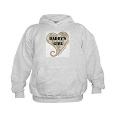 Daddy's girl camo soldier heart Hoodie