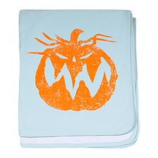 Grunge Pumpkin baby blanket