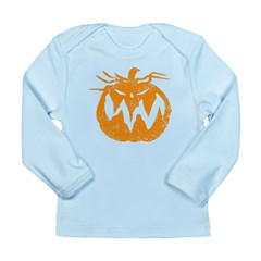 Grunge Pumpkin Long Sleeve Infant T-Shirt