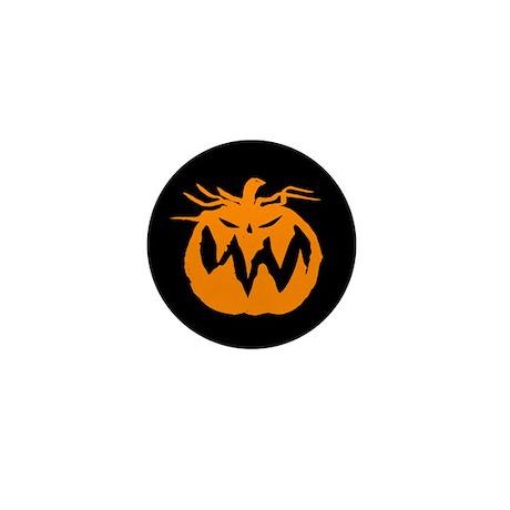 Grunge Pumpkin Mini Button