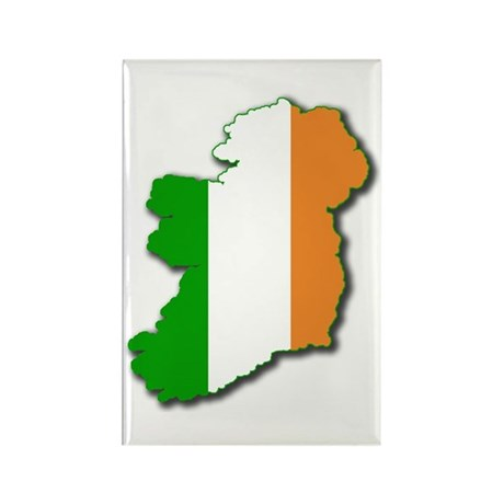 Irish Map Rectangle Magnet