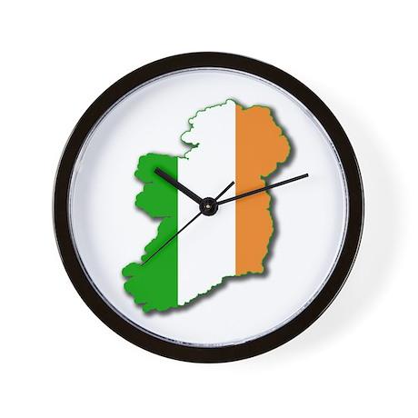 Irish Map Wall Clock