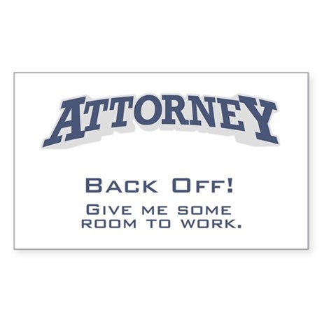 Attorney / Back Off Sticker (Rectangle)