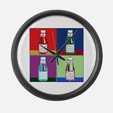 Pop Art Ketchup Large Wall Clock