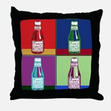 Pop Art Ketchup Throw Pillow