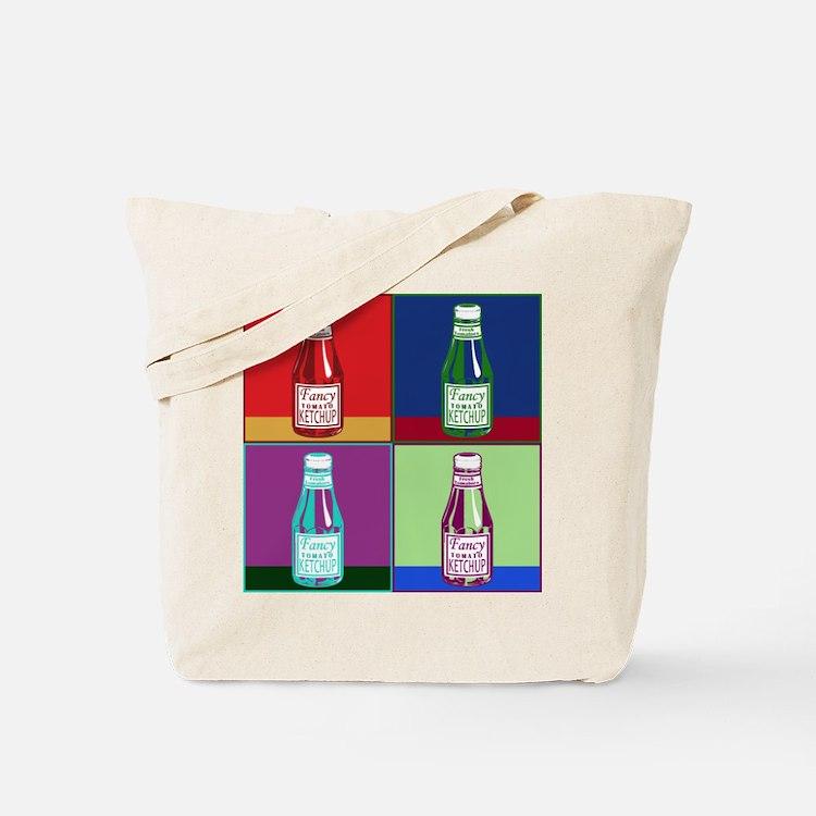Pop Art Ketchup Tote Bag