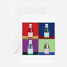 Pop Art Ketchup Greeting Card