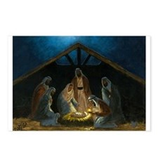 Cute Nativity Postcards (Package of 8)