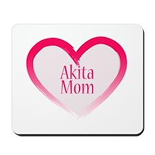 Akita Pink Heart Mousepad