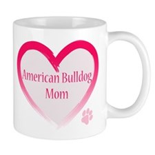 American Bulldog Mom Pink Heart Mug