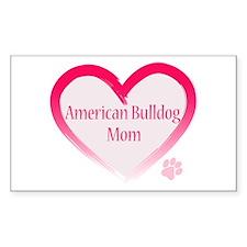 American Bulldog Mom Pink Heart Decal