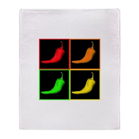 Pop Art Chili Throw Blanket