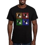 Pop Art Sushi Men's Fitted T-Shirt (dark)
