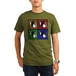 Pop Art Sushi Organic Men's T-Shirt (dark)