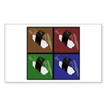 Pop Art Sushi Sticker (Rectangle 50 pk)