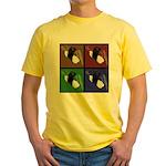 Pop Art Sushi Yellow T-Shirt