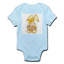 Country Bunny & Flowers Infant Creeper