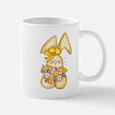 Country Bunny & Flowers Mug