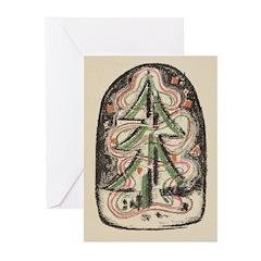 Christmas Tree Print By: Werner Drewes Greeting Ca