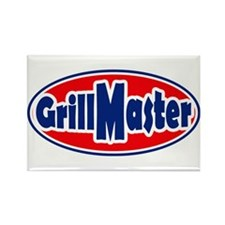 Grill Master Oval Rectangle Magnet