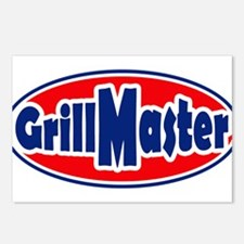 Grill Master Oval Postcards (Package of 8)