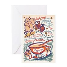 Eggnog Recipe By: Peter Hunt Greeting Card