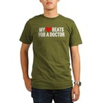 My Heart Beats For A Doctor Organic Men's T-Shirt