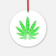 Green Leaf Ornament (Round)