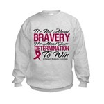 Multiple Myeloma Bravery Kids Sweatshirt