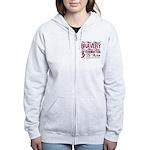 Multiple Myeloma Bravery Women's Zip Hoodie