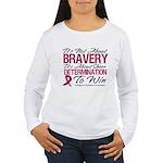 Multiple Myeloma Bravery Women's Long Sleeve T-Shi