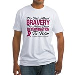 Multiple Myeloma Bravery Fitted T-Shirt