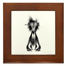Crazy Monkey Framed Tile