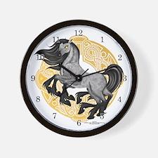 """""""Sleipnir, Odin's 8-Legged Horse"""" Wall Clock"""
