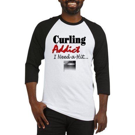 Curling Addict (Hit) Baseball Jersey