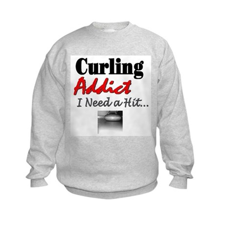 Curling Addict (Hit) Kids Sweatshirt
