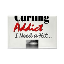 Curling Addict (Hit) Rectangle Magnet