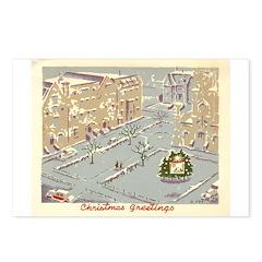 City Scene Print By: Rowena Fry Postcards (Package