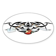 Chef Design Oval Decal
