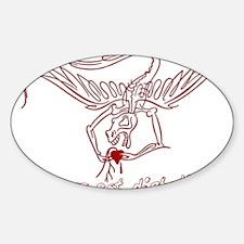 L' amour Est Diabolique Sticker (Oval)