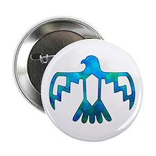 "Blue-Green Thunderbird 2.25"" Button"