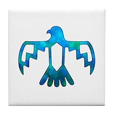 Blue-Green Thunderbird Tile Coaster