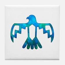 Blue-Green Thunderbird Tile Coaster