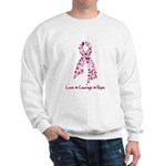 Love Courage Myeloma Sweatshirt