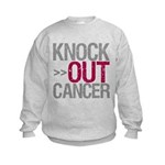 Knock Out Cancer Myeloma Kids Sweatshirt