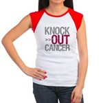 Knock Out Cancer Myeloma Women's Cap Sleeve T-Shir