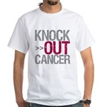 Knock Out Cancer Myeloma White T-Shirt