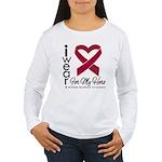 I Wear Ribbon Hero Myeloma Women's Long Sleeve T-S